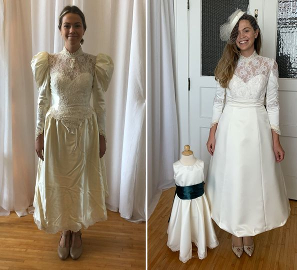 Vintage gown alterations