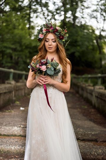 Flowery Bride Look