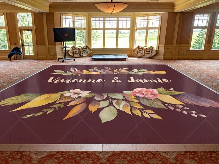 Tmx Autumnallure24x20m Fall Wedding Fall Colors Flowers Rustic Purple Orange Bouquet Gold Rose Gold Green Plum Autumn Dance Floor Decal Dance Floor Decor Weddings Weddings O 51 1866479 1566830464 Gurnee, IL wedding eventproduction