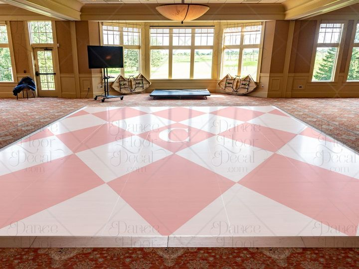 Tmx Everelegant24x20 Mockup Dance Floor Decal Dance Floor Decor Monogram Classic Checkerboard White Peach Pink Weddings Weddings On A Budget Custom 51 1866479 1566830467 Gurnee, IL wedding eventproduction
