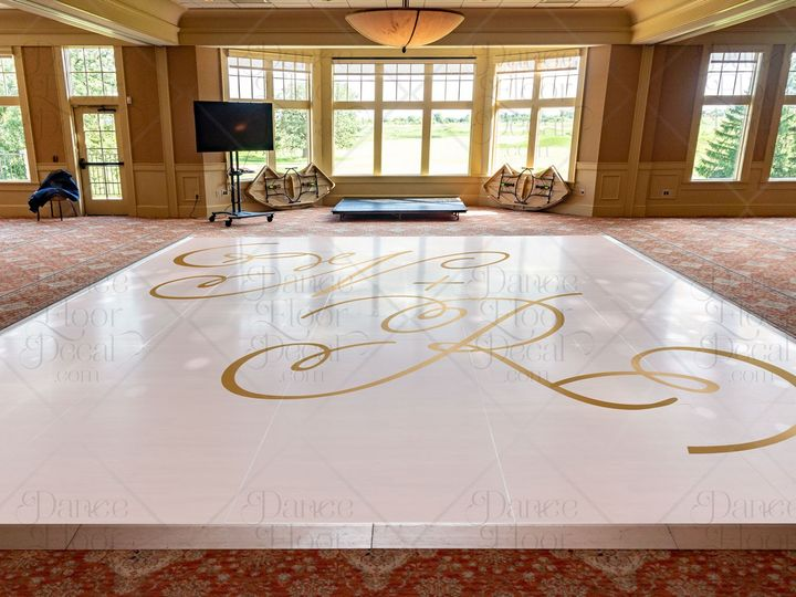 Tmx Goldenglitz Mockup Gold Classic Elegant Monogram Script Dance Floor Decal Dance Floor Decor Weddings Weddings On A Budget Custom 51 1866479 1566830470 Gurnee, IL wedding eventproduction