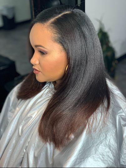 Straight natural hair