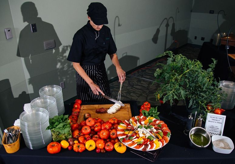 heirloom tomato carving station 1