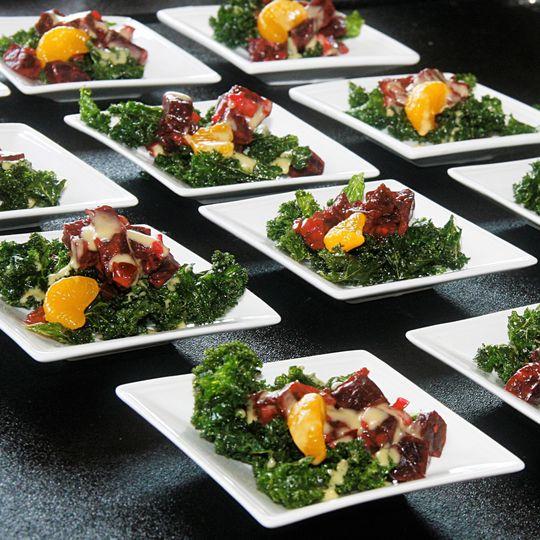 roasted beet salad crispy kale clementine confit d
