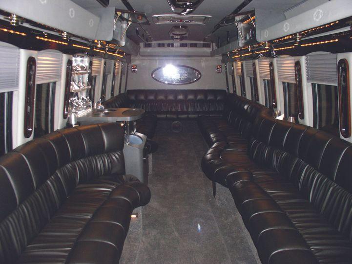 luxury limo bus interior cmyk