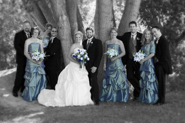 A perfect bridal party image. What a fun group.