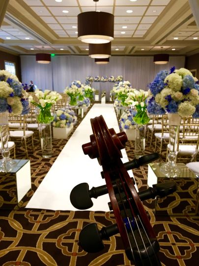 Indoor wedding event