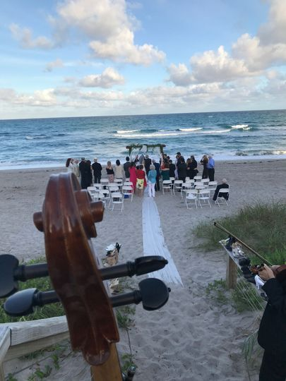 Playing for a beach wedding
