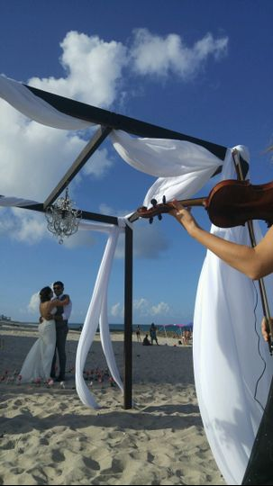 Solo Violin Beach Wedding