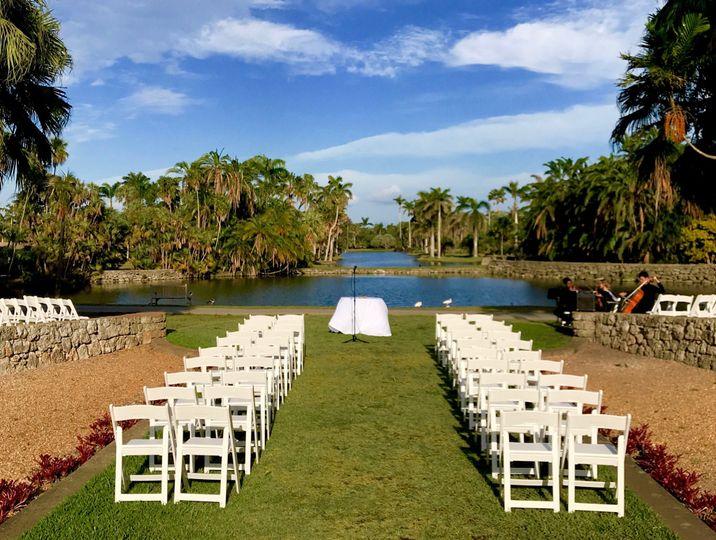Ceremony at Fairchild Botanical Gardens