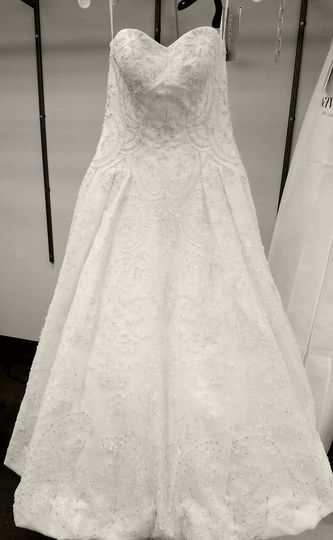 One of my favorite Oleg gowns that I hemmed and took in on the sides.