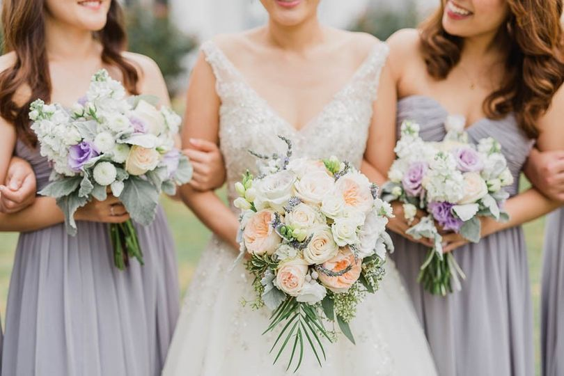 Bride and bridesmaids' bouquet