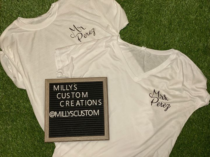 Mr and mrs official shirts