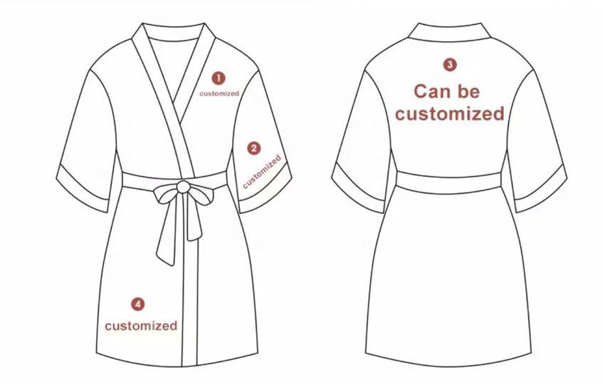 Custom slik robes