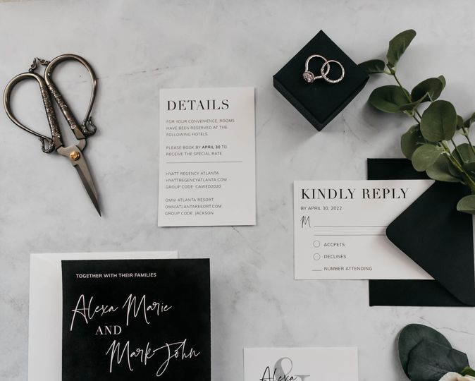 Modern black and white suite