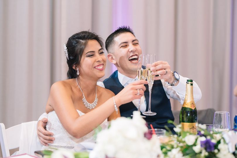 Toast by the married couple