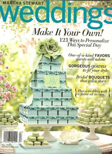 Chocolate Graphics Chocolates were featured in Martha Stewart's Wedding Magazine!
