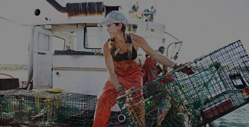Lady-lobster man