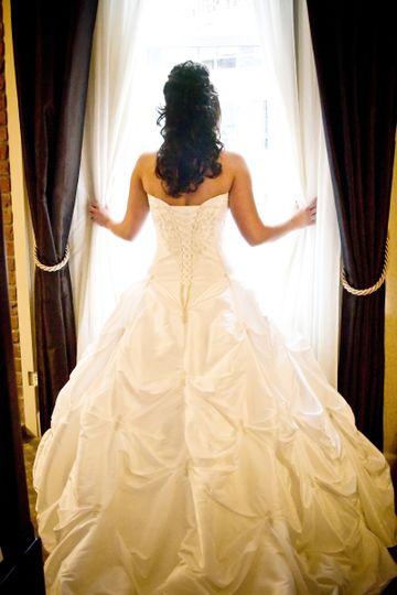 brides back window shot