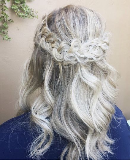Half up braid