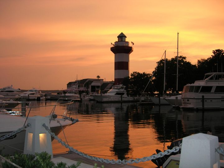 Harbortown at sunset