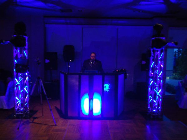 DJ Setup with mood lighting. Quiet Cannon Montebello Ca.