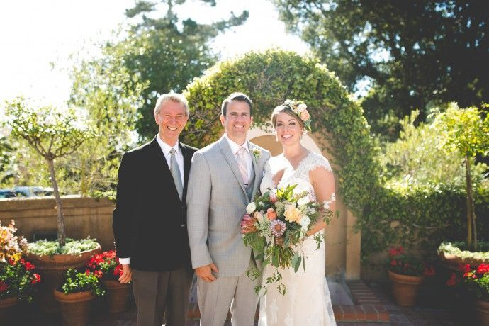 Officiant and couple