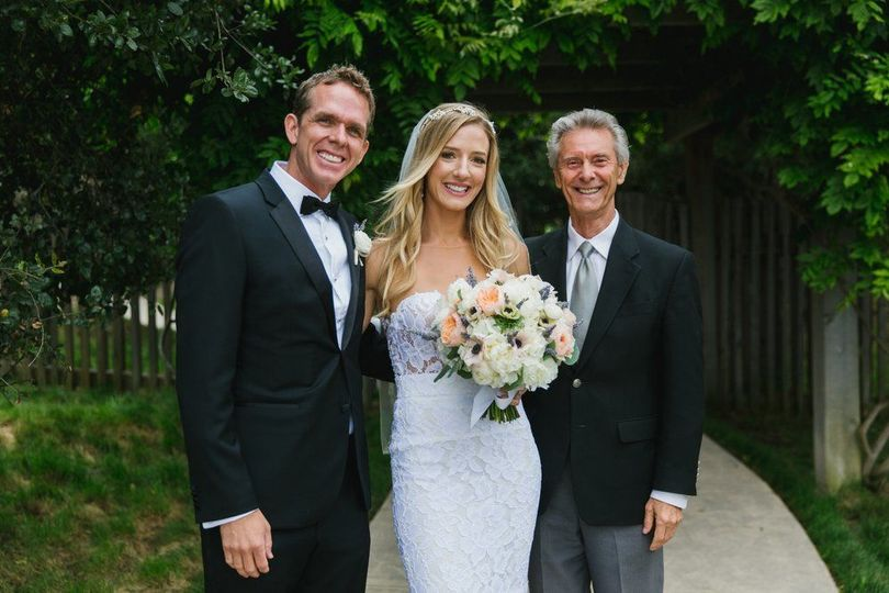 Ken Robins and the newlyweds
