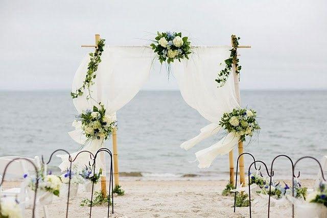Beach wedding cabana