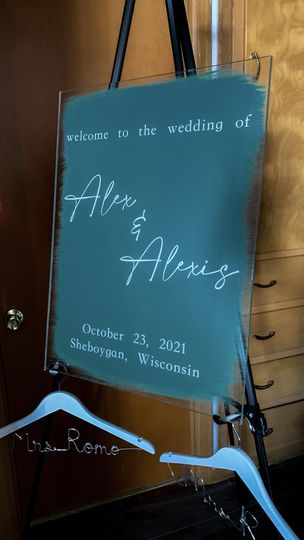 Personalized Acrylic Sign
