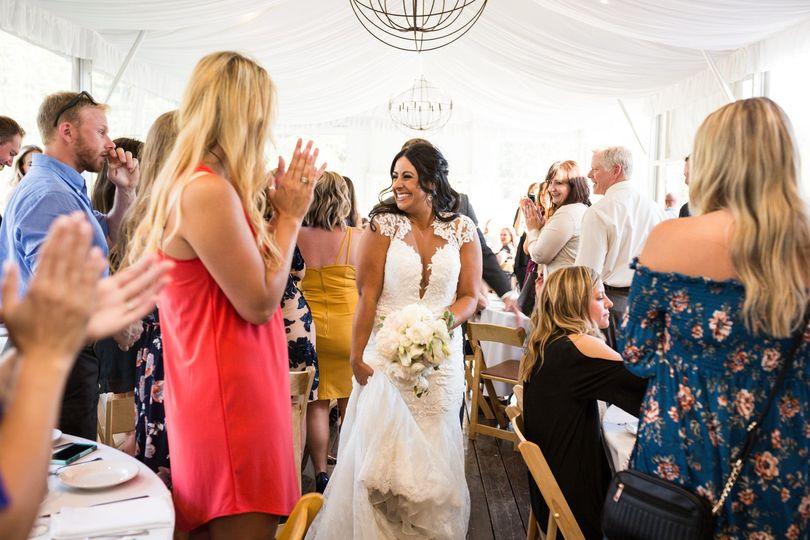 Bride in the reception