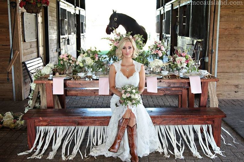 Bride sitting on the bench