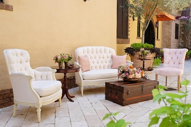 Tmx January Subtle Chic Bella Collina The Thompson The Mason Frances Settee Frances Chair 51 181679 Orlando, Florida wedding rental