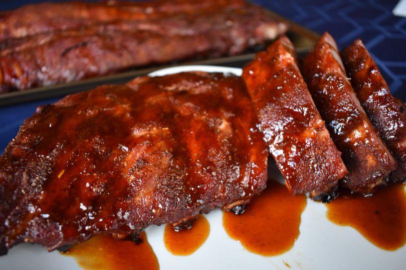 Smoke BBQ ribs