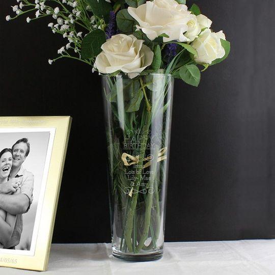 personalised happy birthday vase 31