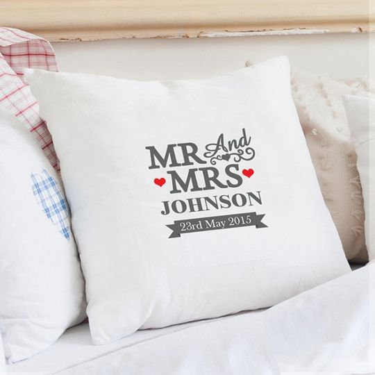 personalised mr and mrs cushion 31