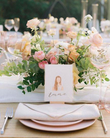Floral table scape