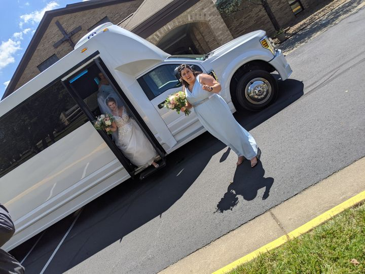 Bride-White-Limo-Bus