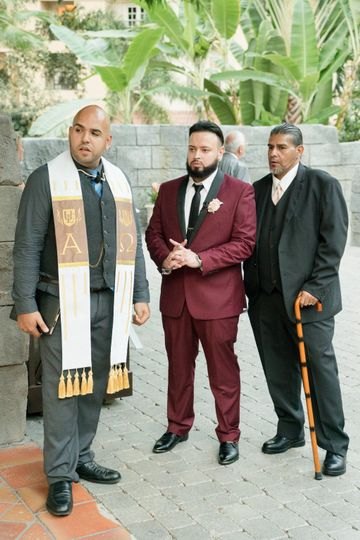 With the groom