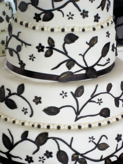 Wedding cake with plant detailing