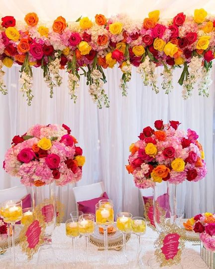 Table setting for the couple