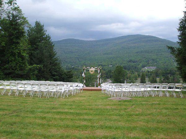 Slopeside ceremony location