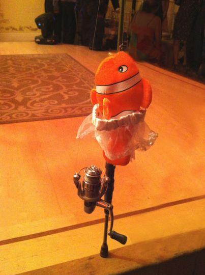 A Nemo Wearing the Garter, then the Fisherman Groom Reels In the Winner!