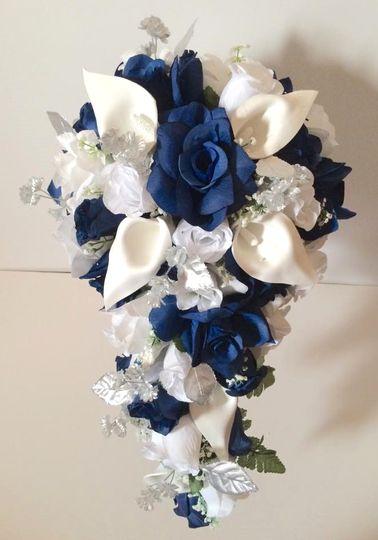 Navy Blue White