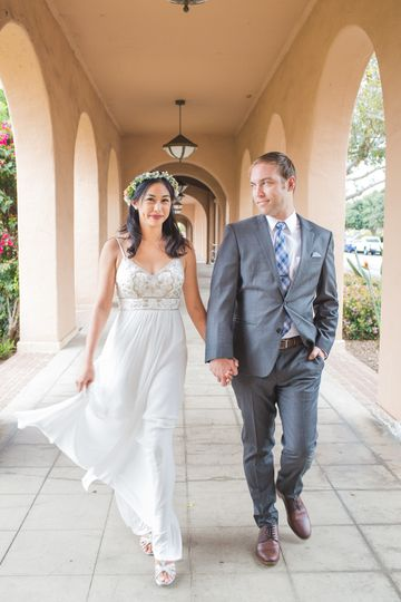 Wedding at Stone Brewing World Bistro & Gardens at Liberty Station, San Diego, CA