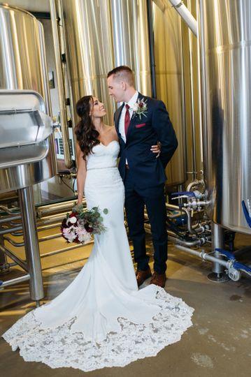 Wedding at stone brewing at liberty station