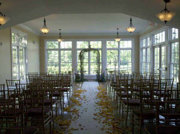 Ceremony in our sunroom