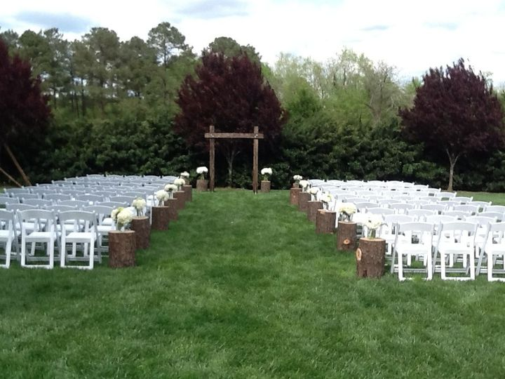 Ceremony in our side yard