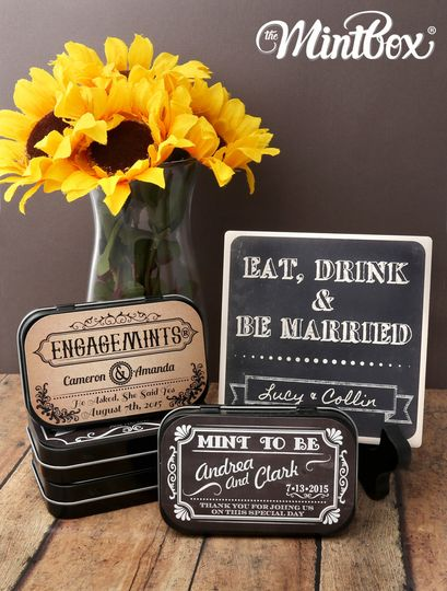 chalkboard wedding