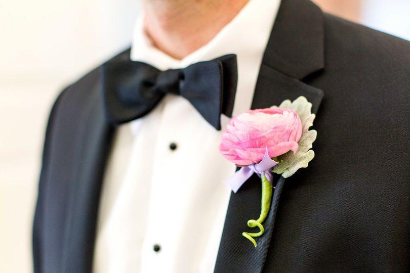 Tuxedo with flower